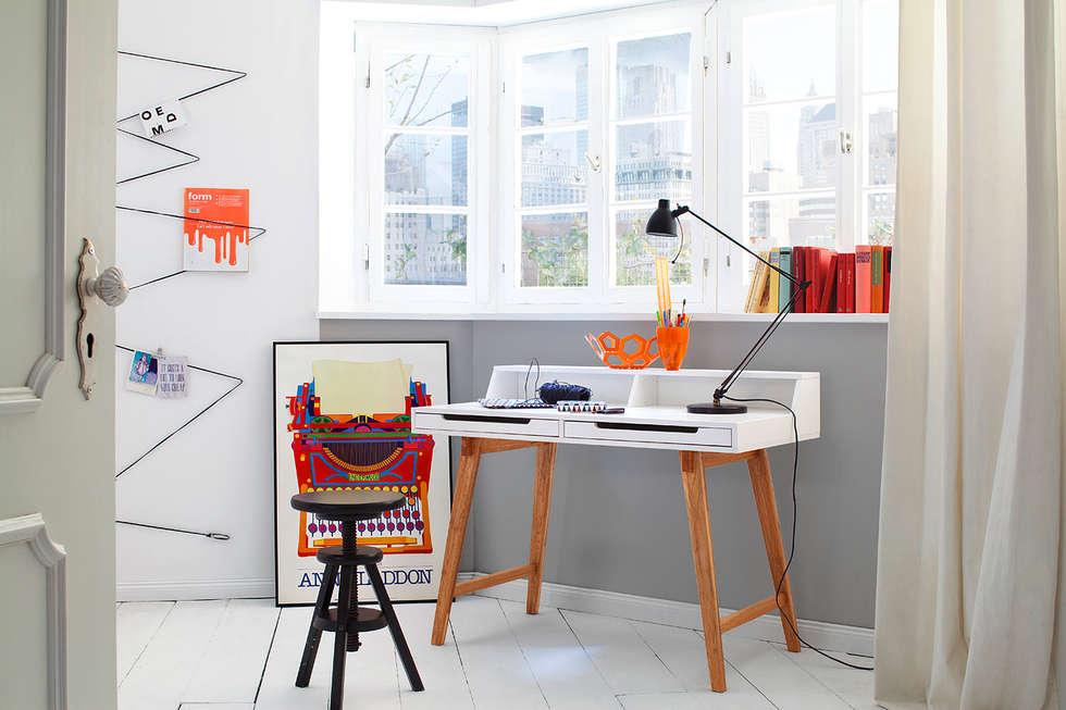 Biurko TOMI: styl , w kategorii Domowe biuro i gabinet zaprojektowany przez mebel4u