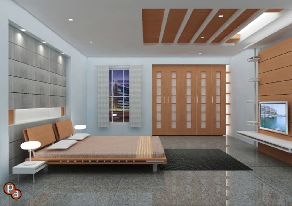 Minimalistic Bedroom Interiors: modern Bedroom by Preetham  Interior Designer