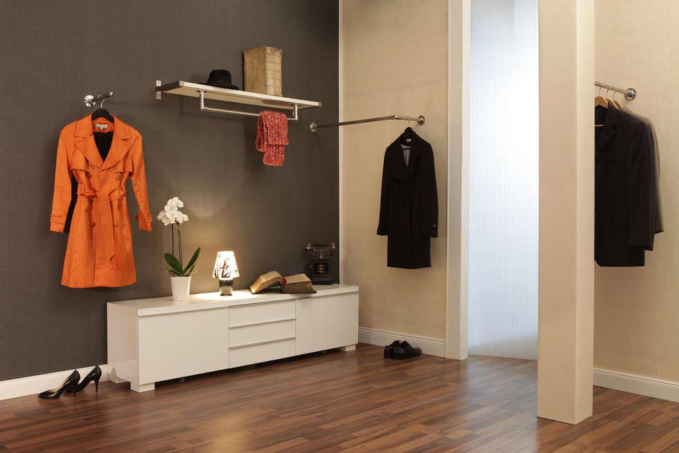 uli garderobenstange und kleiderstangen aus edelstahl nach. Black Bedroom Furniture Sets. Home Design Ideas