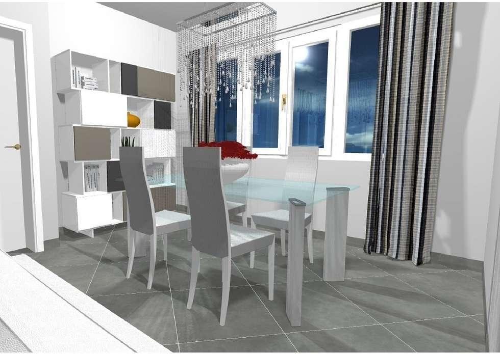 Zona pranzo con un tocco di colore: Sala da pranzo in stile in stile Moderno di Indefinito