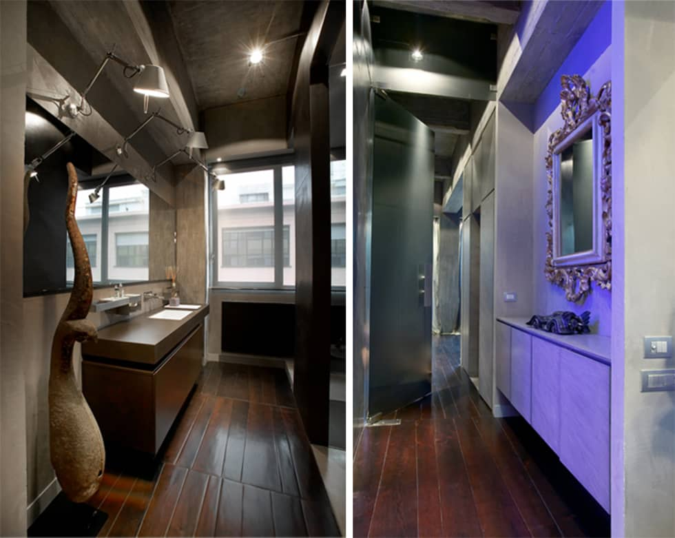 MG2 architetture - Interior - Loft: Bagno in stile in stile Industriale di mg2 architetture