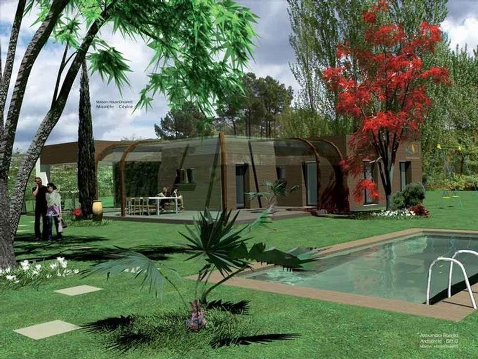 maison ossature bois : Maisons de style de style Moderne par Ab consultant