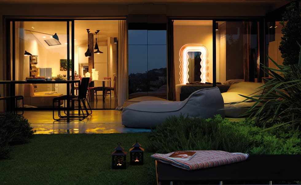 MG2 Architetture - Interior - Sliced boxes: Giardino in stile in stile Moderno di mg2 architetture