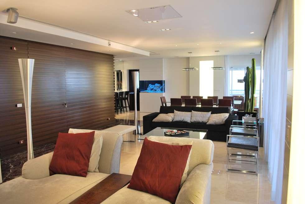 Sala de estar e jantar: Salas de estar ecléticas por ArkDek