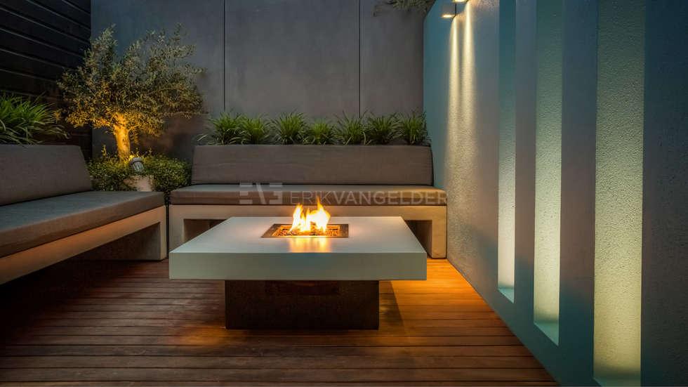 Vuurtafel Erik van Gelder: industriële Tuin door ERIK VAN GELDER | Devoted to Garden Design