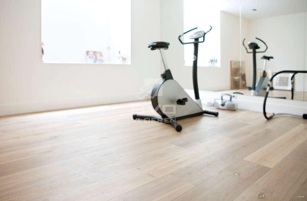 Moderne Houten Vloeren : Houten vloer in fitness ruimte moderne fitnessruimte door bvo