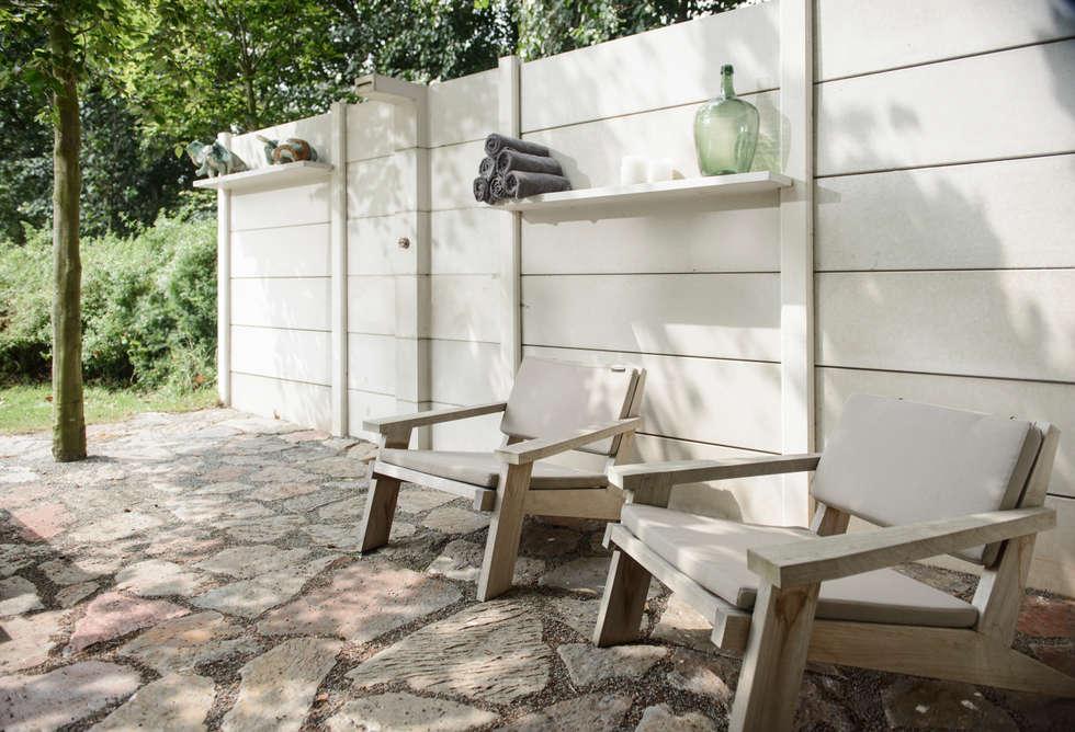 WWOO Concrete Outdoor Kitchen: industriële Tuin door NewLook Brasschaat Keukens