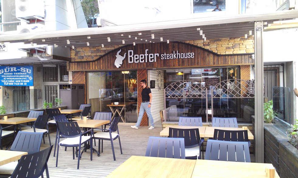 Emre Urasoğlu İç Mimarlık Tasarım Ltd.Şti. – Beefer Steak House :  tarz Teras