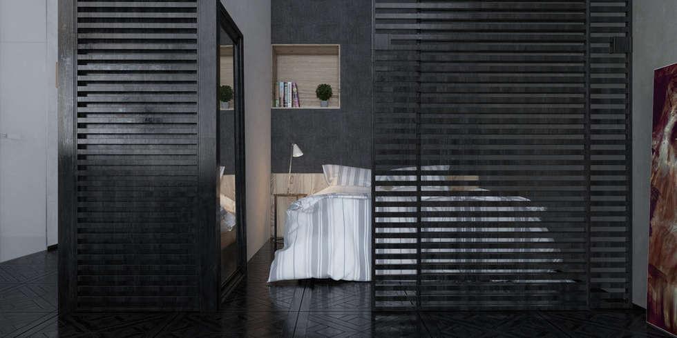 спальня в студии: Спальни в . Автор – INROOM