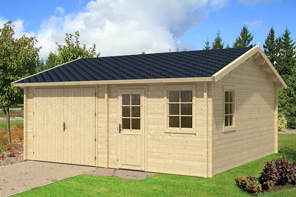 Garaje de madera gisela 44 garajes prefabricados de - Garajes prefabricados de madera ...