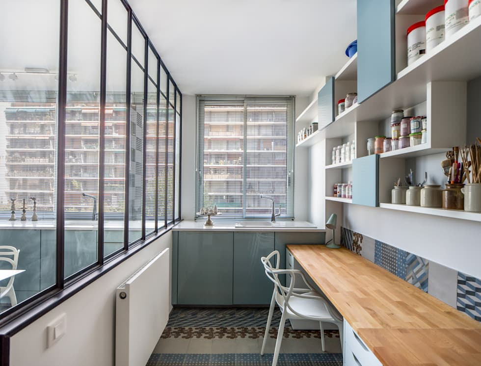 VUE SUR SEINE: Bureau de style de style Moderne par AP ARCHITECTES