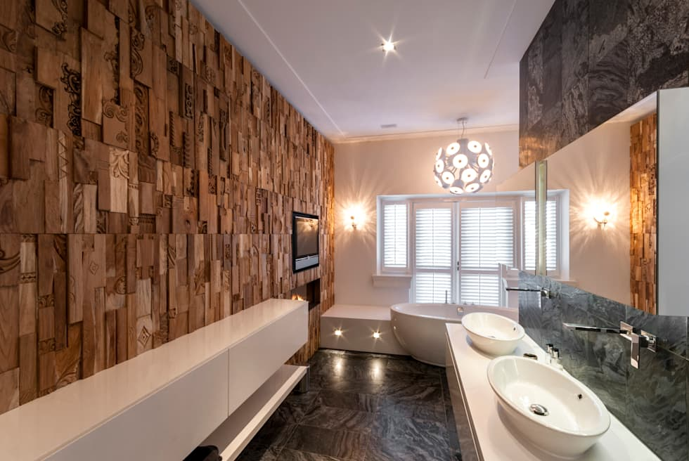 Residential Villa: moderne Badkamer door Wonderwall Studios