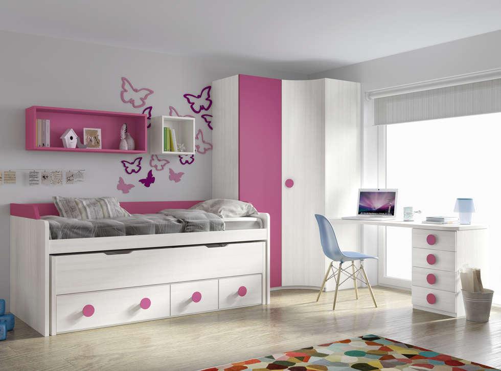 Ideas im genes y decoraci n de hogares homify - Habitaciones dos camas decoracion ...