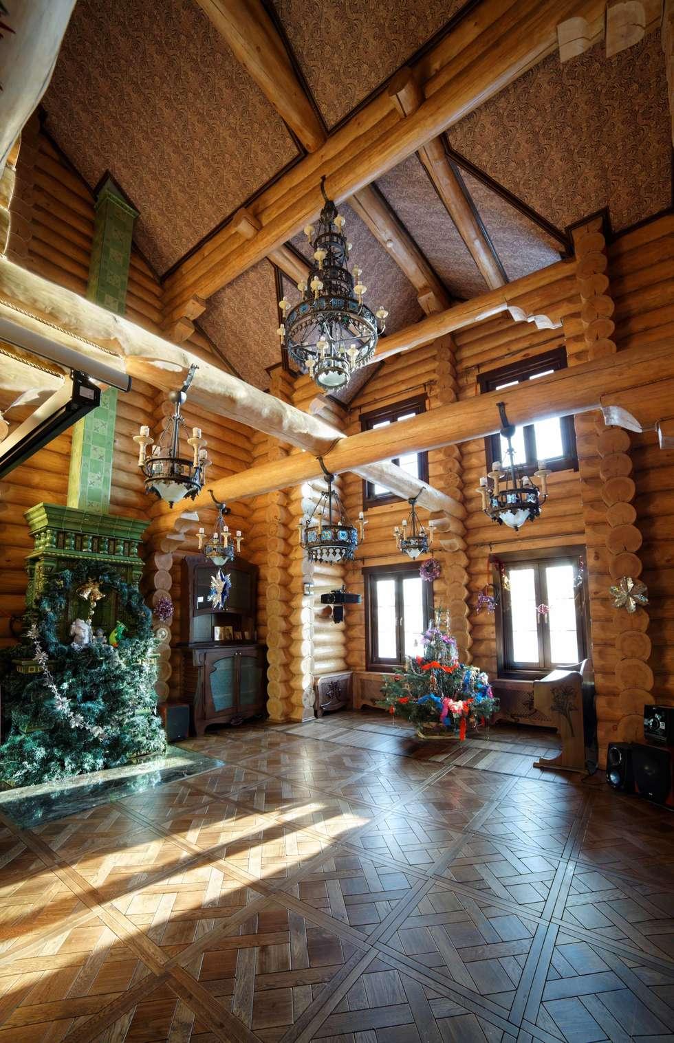 дом в деревне: Гостиная в . Автор – Хандсвел