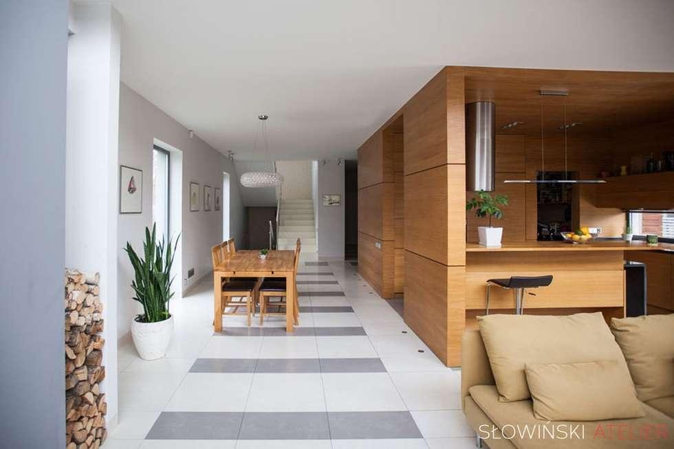 Soggiorno in stile in stile minimalista di atelier for Soggiorno minimalista