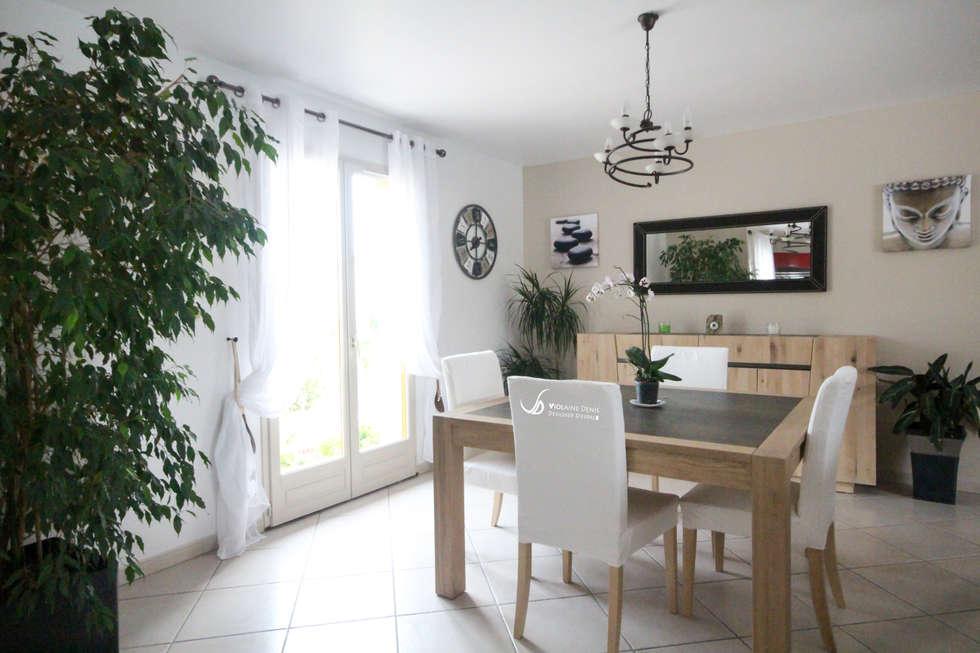 Rénovation d'une cuisine et d'une pièce à vivre: Salle à manger de style de style Moderne par Violaine Denis