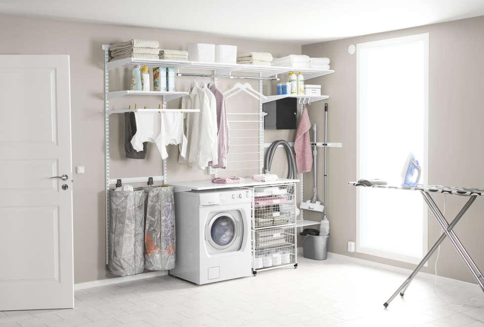 Endlich wird Wäschewaschen zum Vergnügen!: skandinavische Badezimmer von Elfa Deutschland GmbH