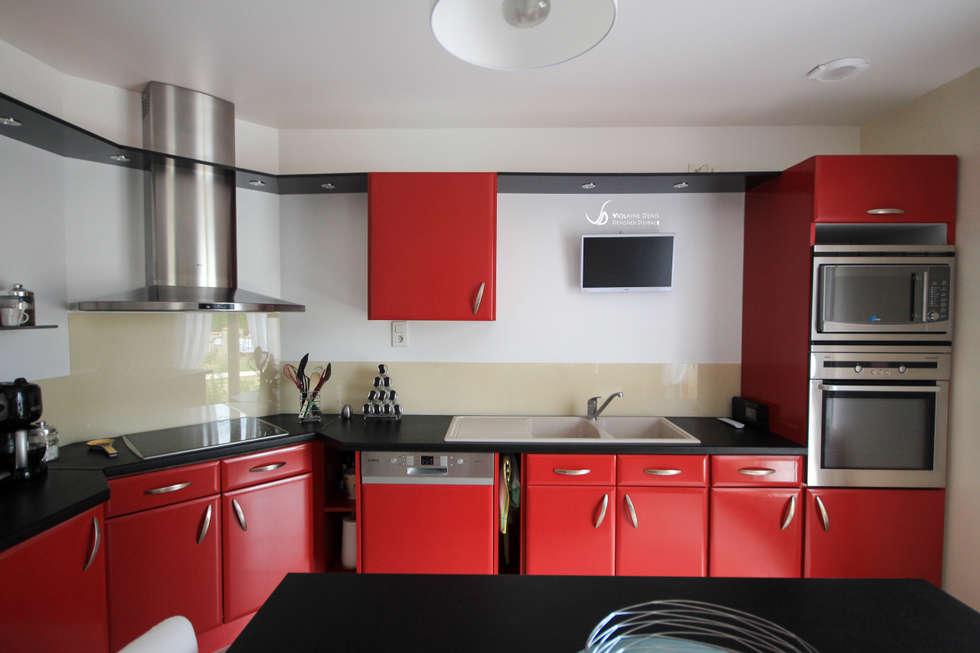 Rénovation d'une cuisine: Cuisine de style de style Moderne par Violaine Denis