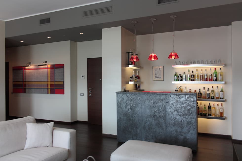 Idee arredamento casa interior design homify - Angolo bar in casa moderno ...