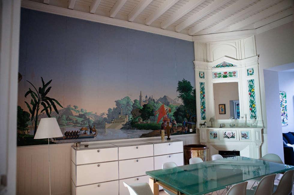 salle à manger: Salle à manger de style de style Colonial par Maguelone Vidal Architectures