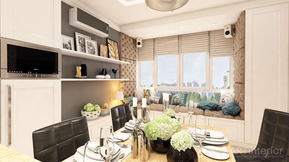 Дизайн интерьера квартиры в Киеве от «Artinterior»: Кухни в . Автор – «Artinterior» – Студия дизайна интерьера