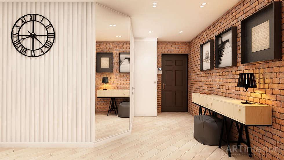 Дизайн интерьера квартиры в Киеве от «Artinterior»: Коридор и прихожая в . Автор – «Artinterior» – Студия дизайна интерьера