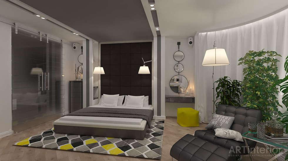 Дизайн интерьера квартиры в Киеве от «Artinterior»: Спальни в . Автор – «Artinterior» – Студия дизайна интерьера