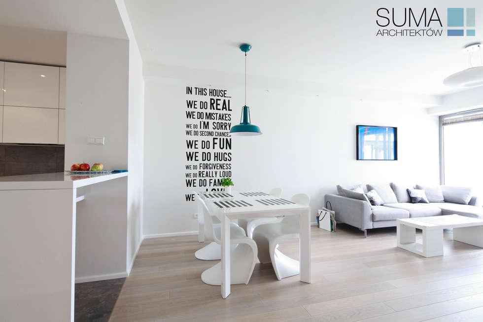 scandinavische Eetkamer door SUMA Architektów