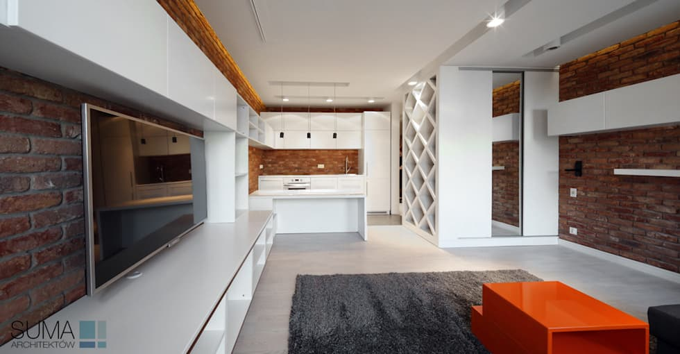 LOFT ONE: styl , w kategorii Kuchnia zaprojektowany przez SUMA Architektów