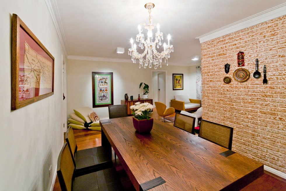 Sala de Estar: Salas de jantar rústicas por Enzo Sobocinski Arquitetura & Interiores