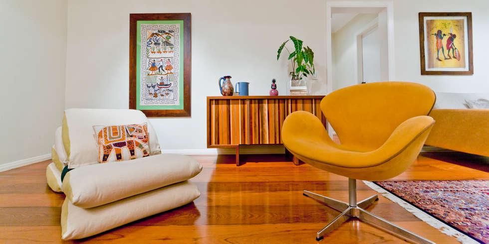 Sala de Estar: Salas de estar rústicas por Enzo Sobocinski Arquitetura & Interiores