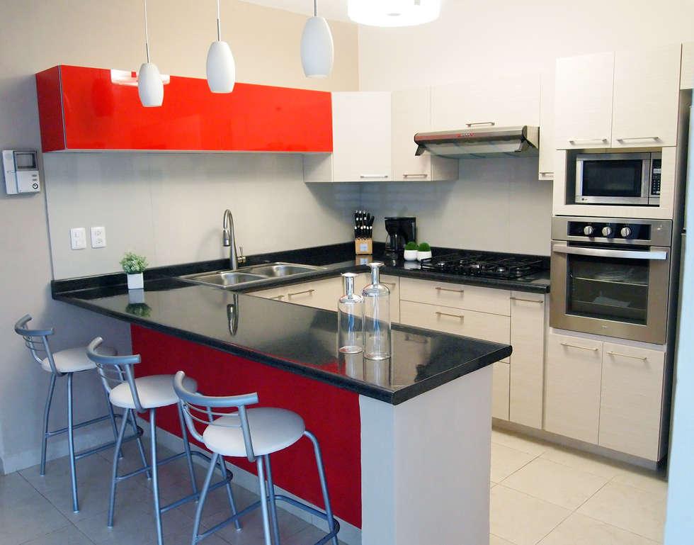 Cocinas de estilo moderno por amarillo interiorismo homify for Cocina estilo moderno