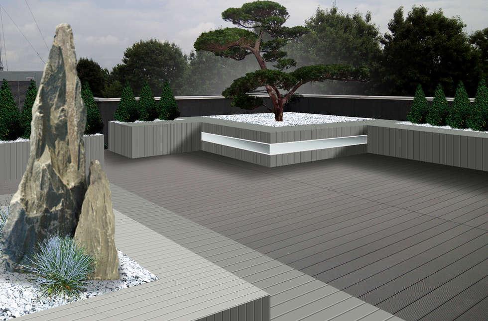 Il giardino a portata di mano: Terrazza in stile  di Immagine Verde