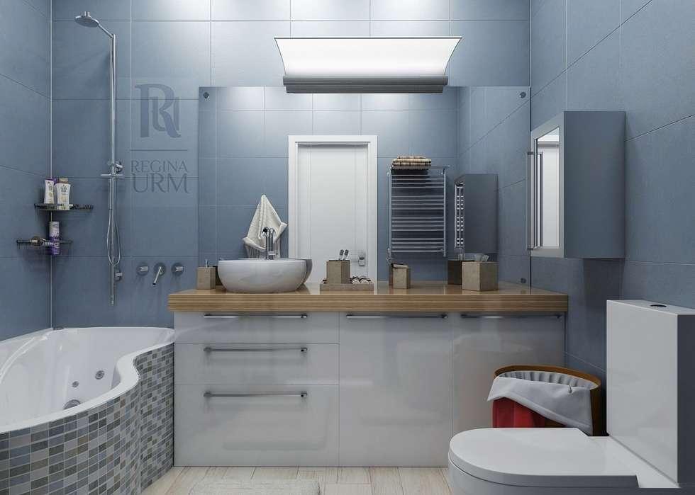 Дизайн проект квартиры в стиле лофт: Ванные комнаты в . Автор – Урм Регина