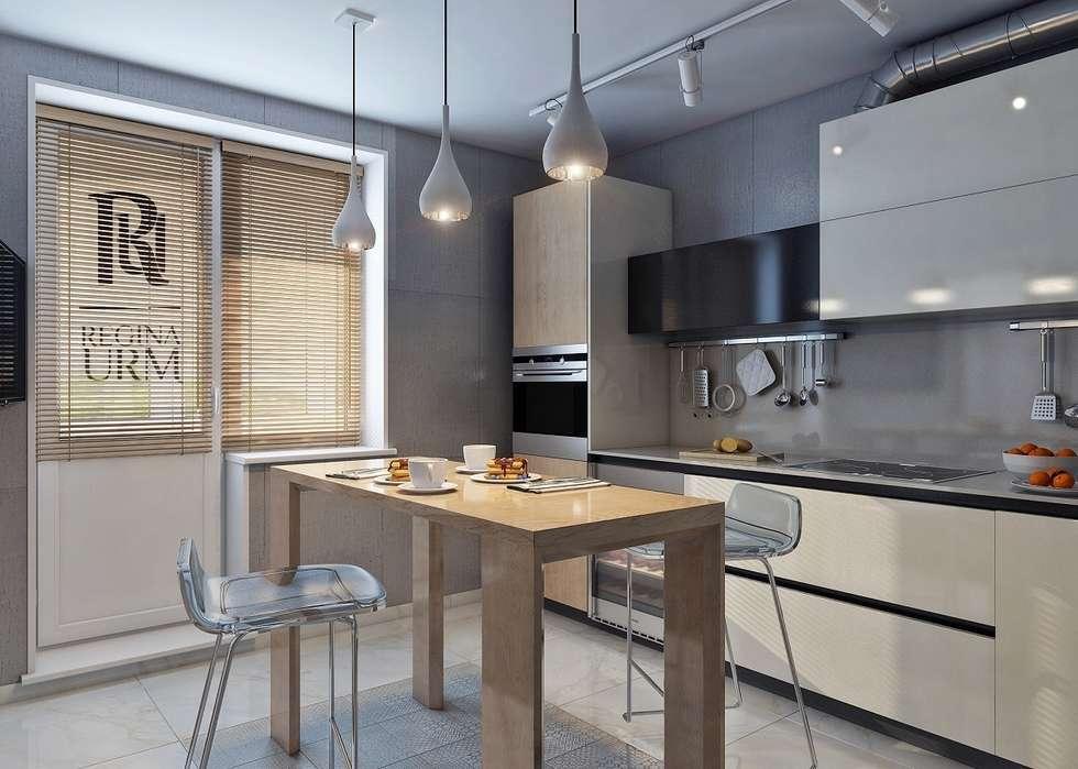 Дизайн проект квартиры в стиле лофт: Кухни в . Автор – Урм Регина