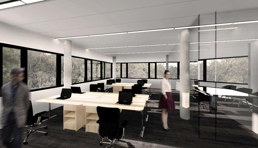 QUARTZ - wizualizacja wnętrza 1: styl , w kategorii Biurowce zaprojektowany przez Easst.com