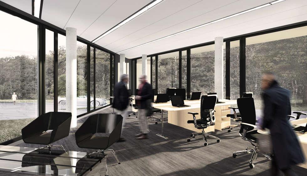 QUARTZ - wizualizacja wnętrza 2: styl , w kategorii Biurowce zaprojektowany przez Easst.com
