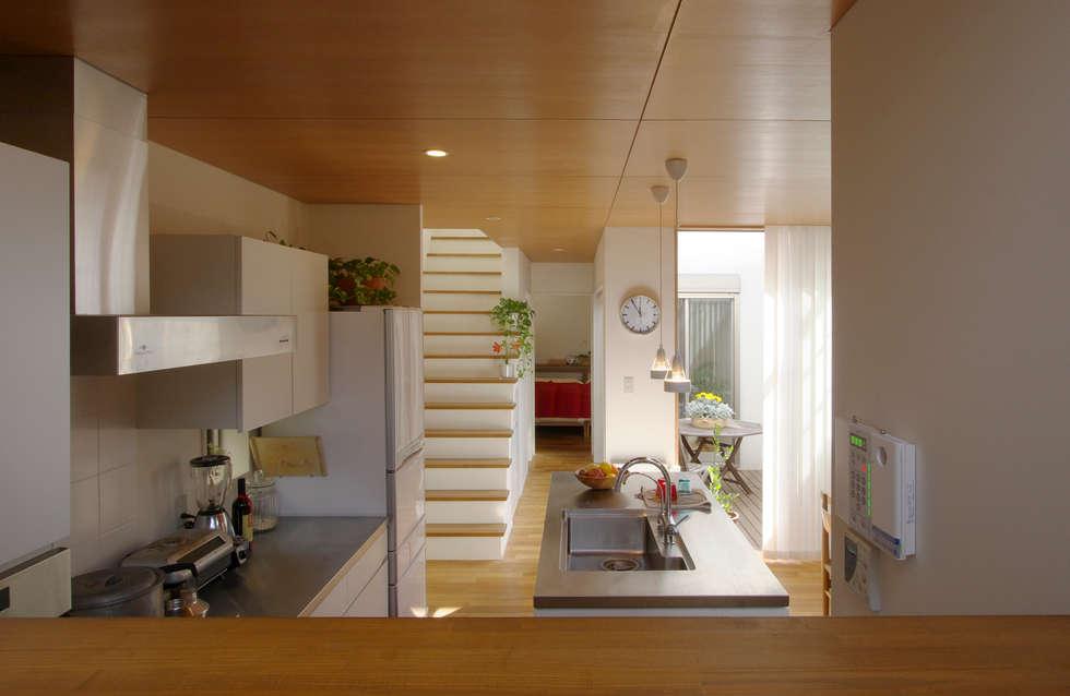 市川の家: 長浜信幸建築設計事務所が手掛けたキッチンです。
