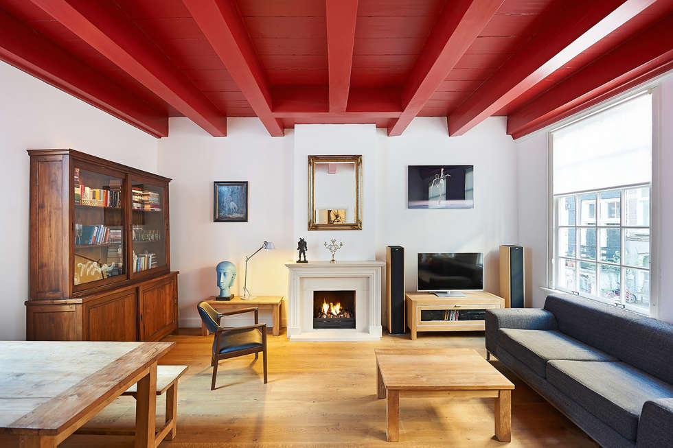 Weteringbuurt : klasieke Woonkamer door Architectenbureau Vroom