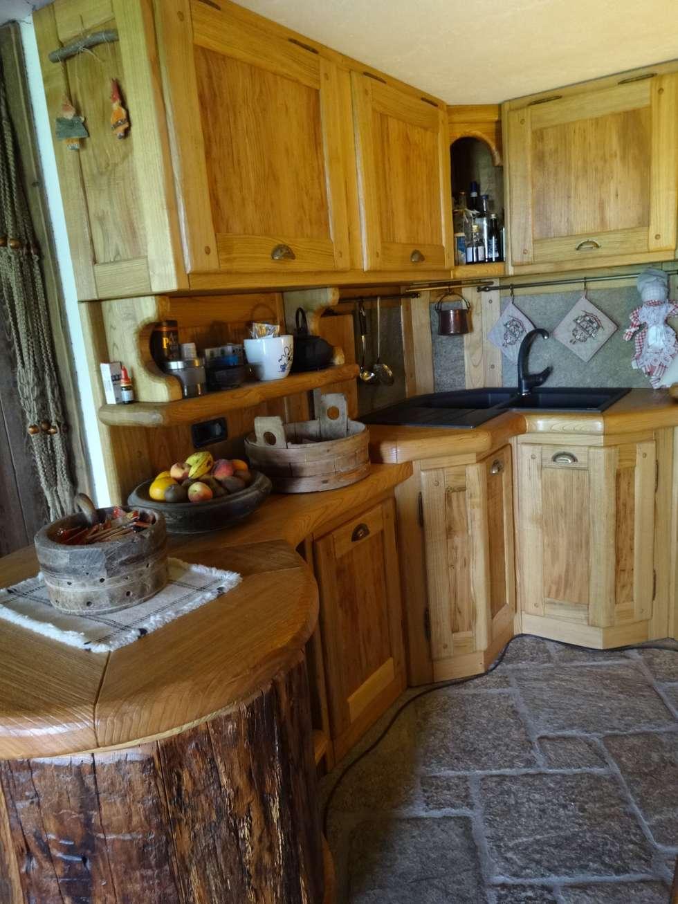 Calda cucina per baita di montagna cucina in stile in for Arredamento baita montagna