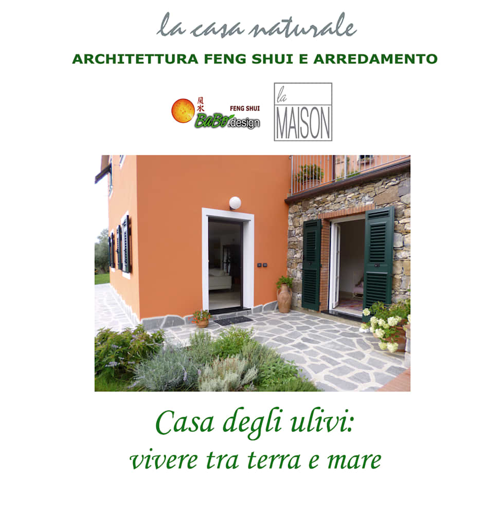 Casa degli ulivi, vivere fra terra a mare. Moneglia (Genova): Case in stile in stile Rustico di BaBo Design - Barbara Sabrina Borello