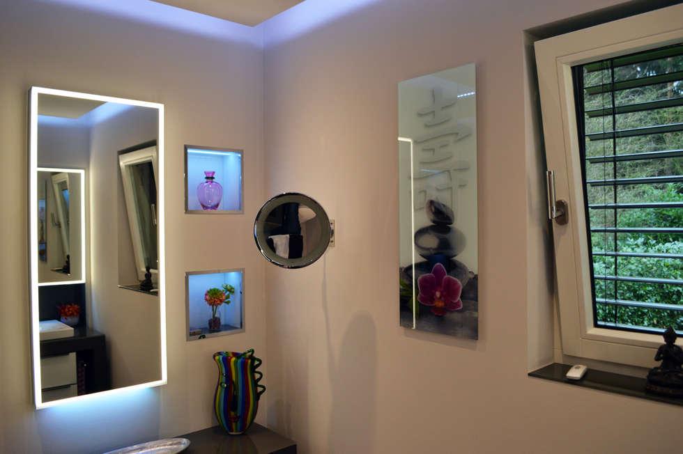 moderne badezimmer bilder: abgehängte decke mit indirekter led rgb, Hause ideen