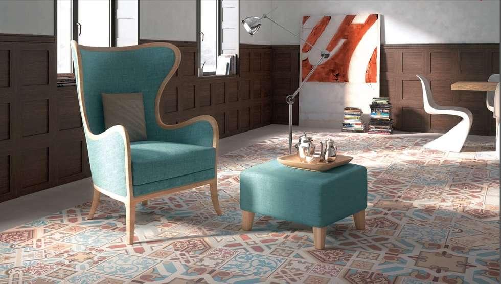 Classic - Ornamenta: Soggiorno in stile in stile Moderno di Ceramiche Addeo