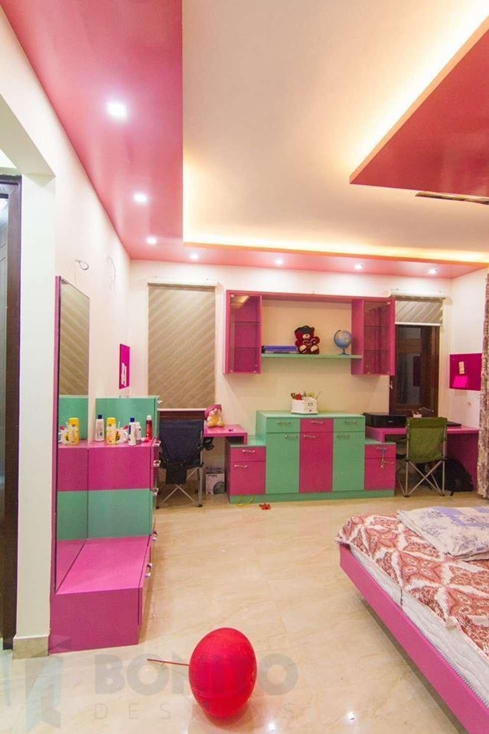 Kids bedroom study table  industrial Bedroom by Bonito Designs Bangalore. Industrial bedroom photos  kids bedroom study table   homify