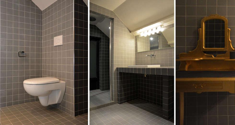 moderne badkamer door agence apolline terrier homify. Black Bedroom Furniture Sets. Home Design Ideas