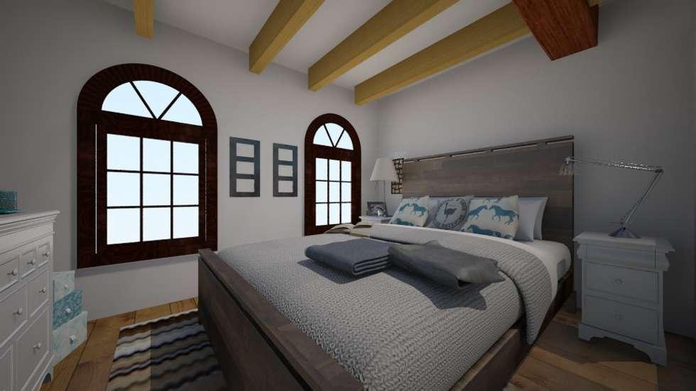 LUMINOSITA' E COMFORT: Camera da letto in stile in stile Eclettico di TOBEHOME INTERIORS