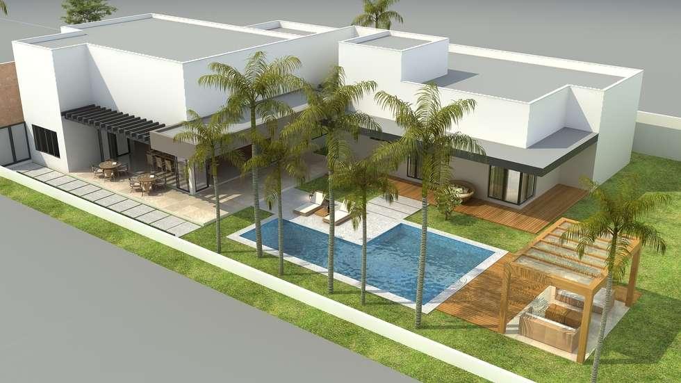 Área de lazer: Casas modernas por Rafaela Dal'Maso Arquitetura