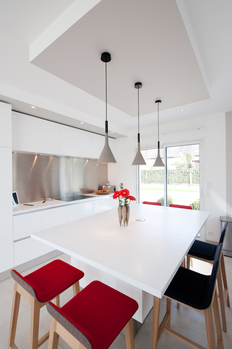 cocinas de estilo moderno de la cuisine dans le bain sk concept