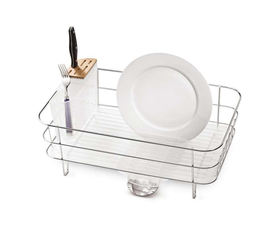 simplehuman steel frame dish racks drainers at