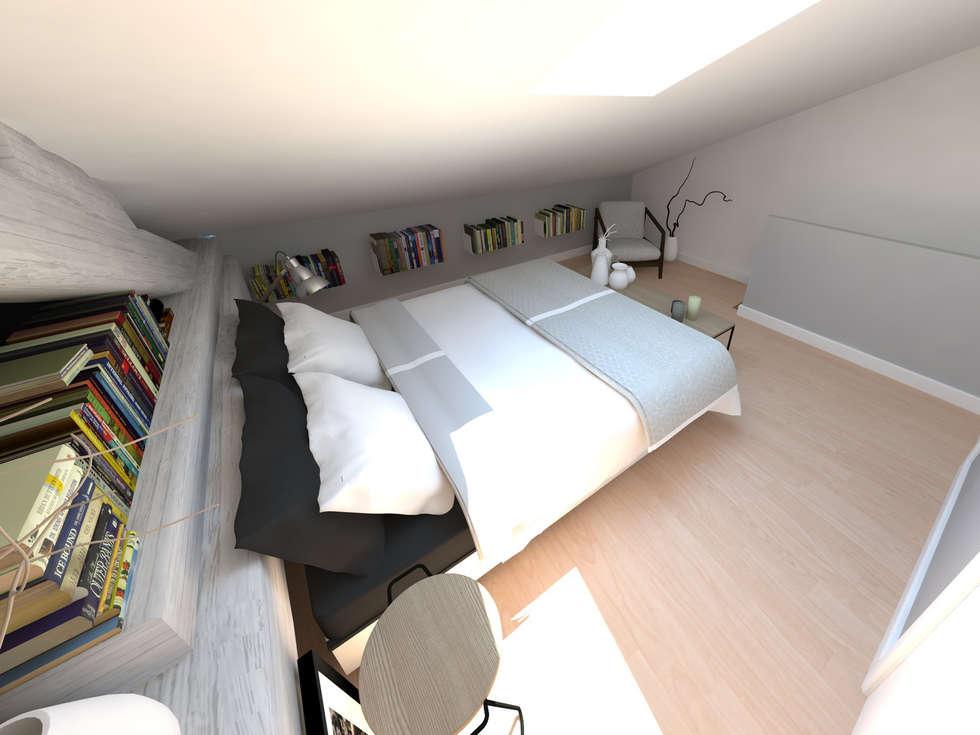 Réaménagement d'une chambre: Chambre de style de style Minimaliste par La Fable